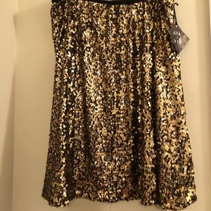 NWT Gold sequin skirt